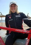 Eva beim Training in Mallorca