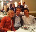 Eva, Tom und Heli beim Galadinner